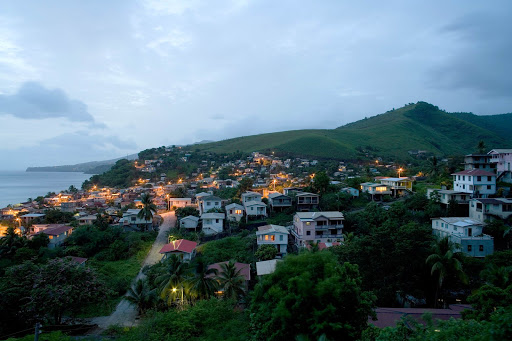 dominica-seaport.jpg - A seaport town at dusk in Dominica.