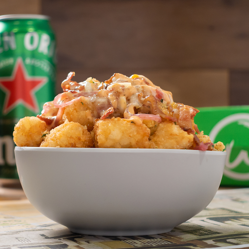Spicy Cheese & Bacon Tots