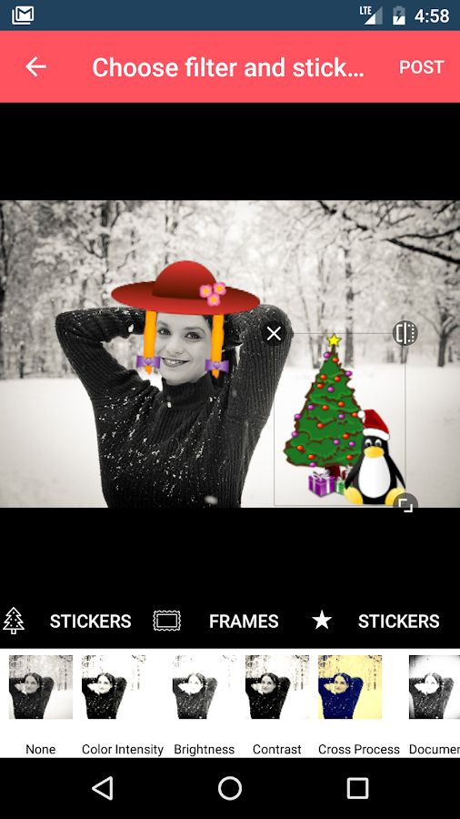 Christmas Photo Stickers and Frames:PhotoSolutions- screenshot