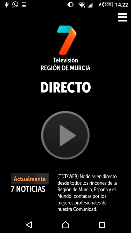 7 TV PLAYER Región de Murcia- screenshot