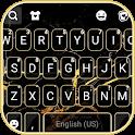 Gold Black Marble Keyboard Theme icon