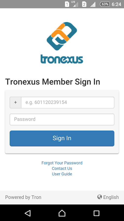 Tronexus Member- screenshot