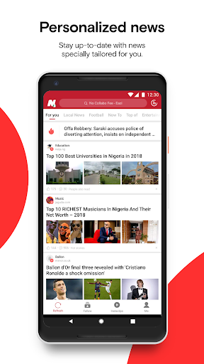 Opera News - Trending news and videos 5.3.2254.134679 screenshots 1