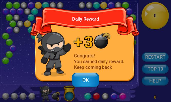 Ninja Bubble Shooter screenshot