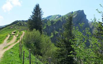 Photo: Wandern Hochgrat: Rückblick von der Brunnenauscharte (1.626 Meter hoch) auf den Hochgrat  L=28 Bericht: https://pagewizz.com/hochgrat-naturpark-nagelfluhkette-wandern-von-der-34589/