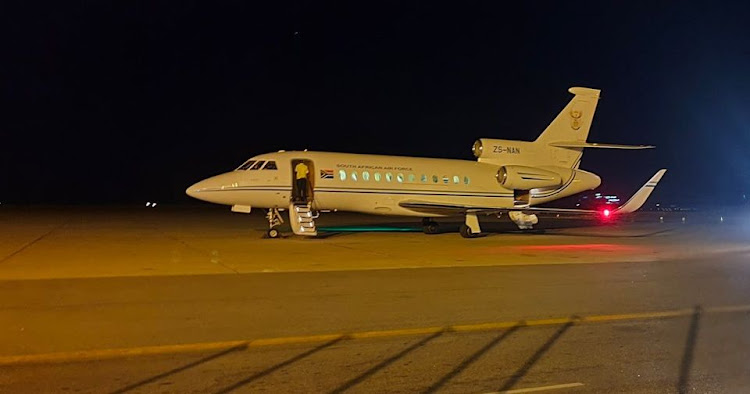 The SA Air Force jet ZS-NAN is reserved for use by VIPs.