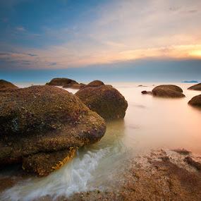 Sunset | Permatang Damar Laut by Izham Khalid - Landscapes Waterscapes ( sunset )