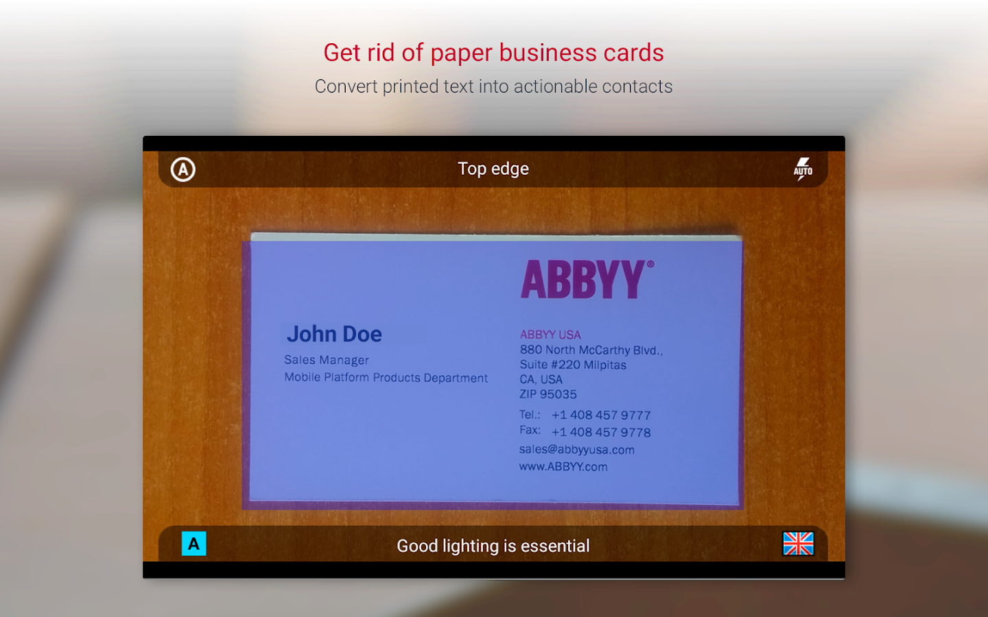Business Card Reader Pro - Business Card Scanner - Android Apps on ...