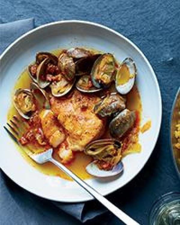 Hake,clams & Chorizo In Broth W/paella Rice Recipe