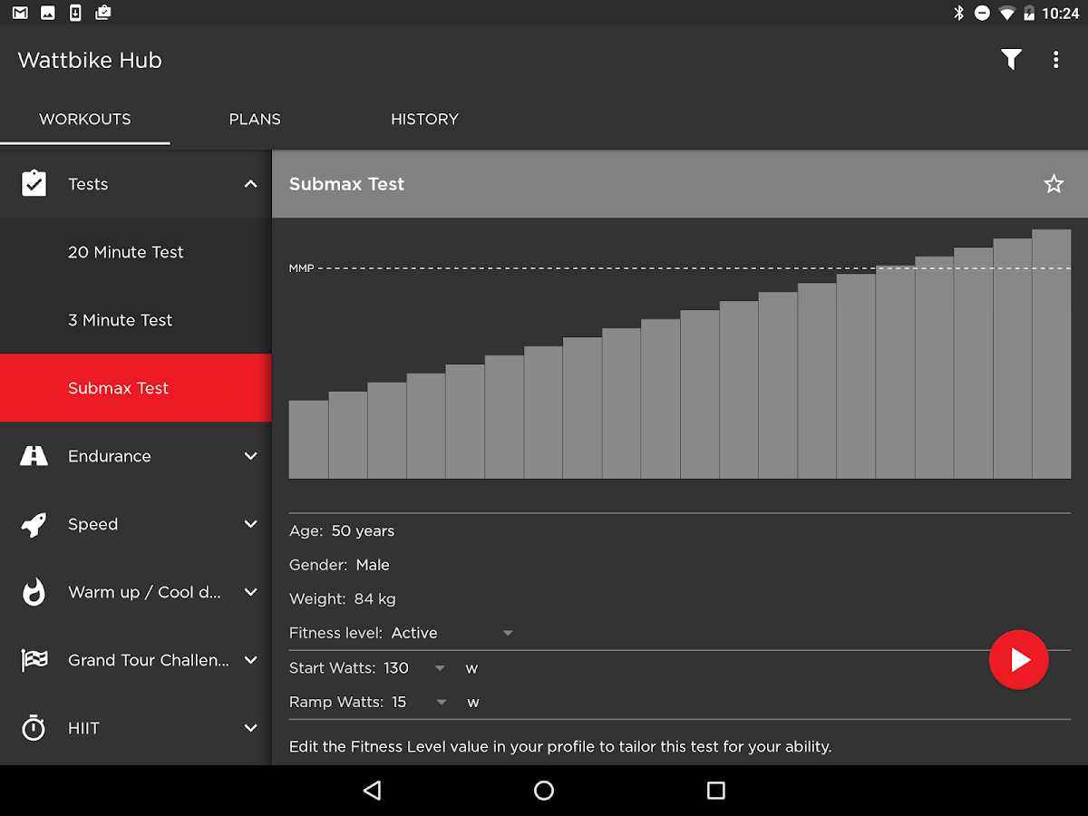 Wattbike Hub- screenshot