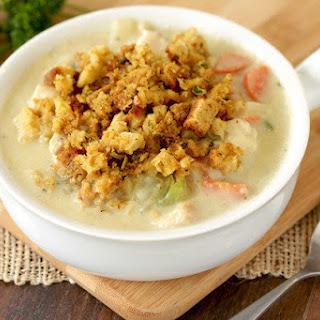 Creamy Dreamy Turkey Soup.