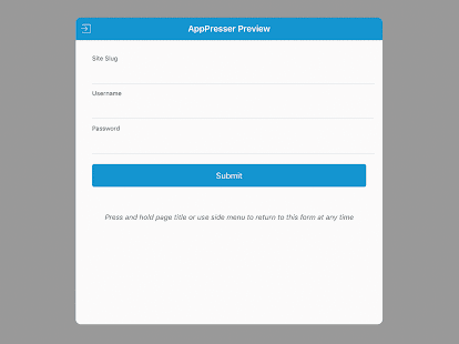 AppPresser 3 Preview- screenshot thumbnail