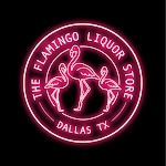 Logo for The Flamingo Liquor Store