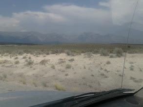 Photo: Driving through the mountains and valleys in Nevada.