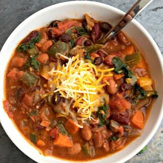 Slow Cooker Vegetarian Chili.