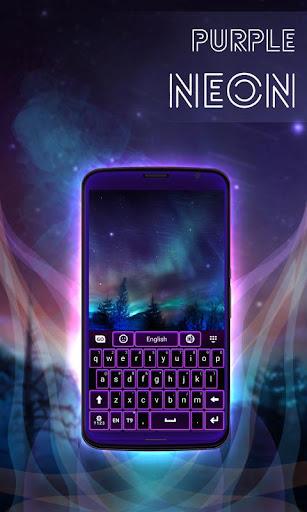 無料个人化Appの紫色のネオンキーボード無料|記事Game