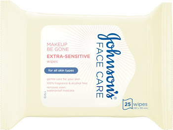Johnson's Face Care Extra Sensitive Wipes - 25 Pack