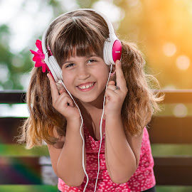 DJ by Vedran Bozicevic - Babies & Children Child Portraits ( music, dj, girl, cute, kids,  )