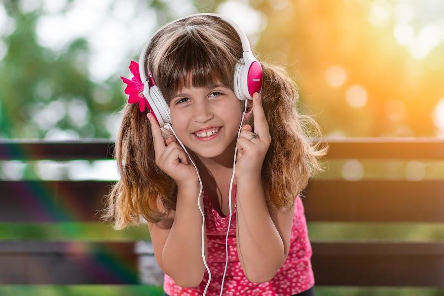 DJ by Vedran Bozicevic - Babies & Children Child Portraits ( music, dj, girl, cute, kids,  )