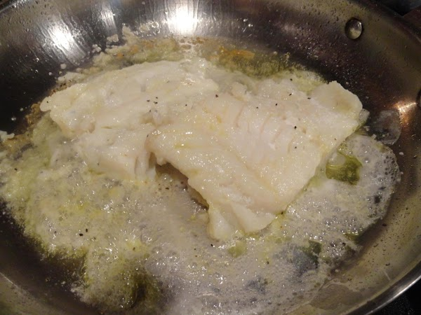 Seared Cod: Season both sides of cod with salt and pepper. Heat oil in pan. Sauté 5...