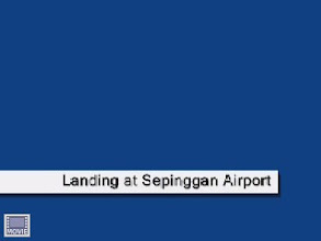 Photo: Flying in from the north of Sepinggan Airport (at x4 speed)