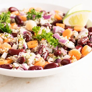 Kidney Beans Salad with Parsley Macadamia Dressing