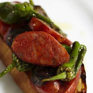 Spicy Spanish Chorizo, Padron Peppers and Aioli
