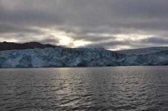 Photo: Arrivée devant le front de glace