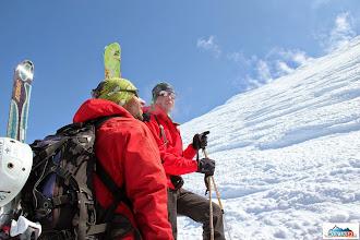 Photo: Matus & Roman just some meters below the summit of Avachinsky