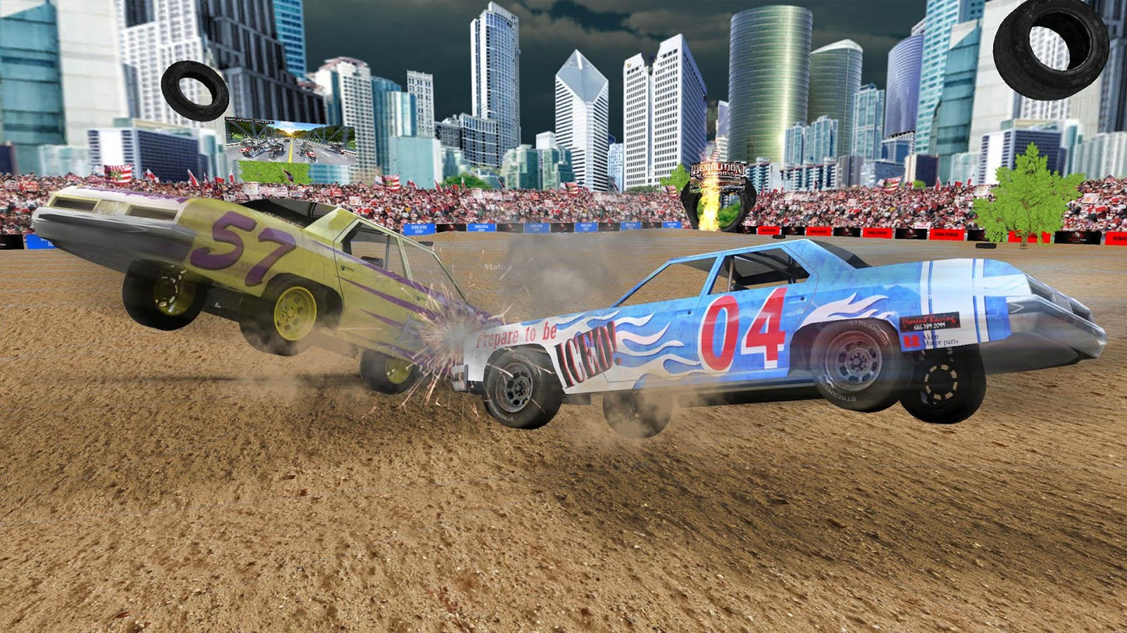 Demolition Derby Car Racing