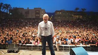 Antonio Bonilla en un reciente concierto de Camela en La Gangosa.