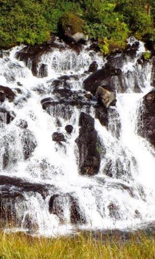 滝Hraunfossar Wallp
