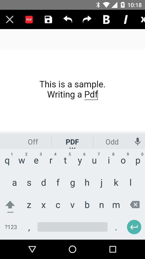 AndroPDF editor for PDF files- screenshot