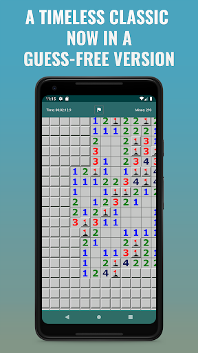 Guess-Free Mines: a minesweeper-type game ss1