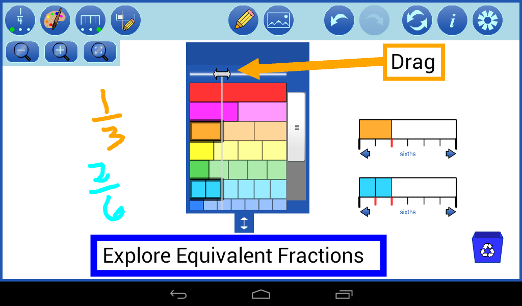 Fraction Strips by mathies- screenshot