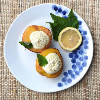 Grilled Peaches with Lemon Mascarpone.