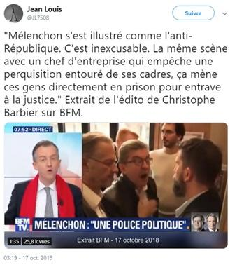 Christophe Barbier - Mélenchon - BFM TV