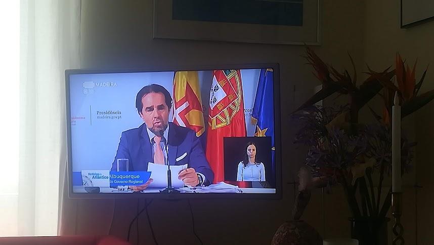 Madeira in quarantaine: dagelijkse persconferentie van de eilandprresident Albuquerque
