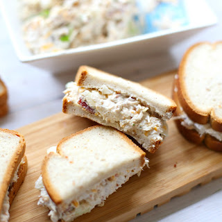 The Most Delicious Loaded Chicken Salad Sandwich Gluten-Free.
