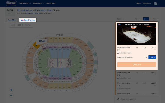 A View From My Seat on StubHub!