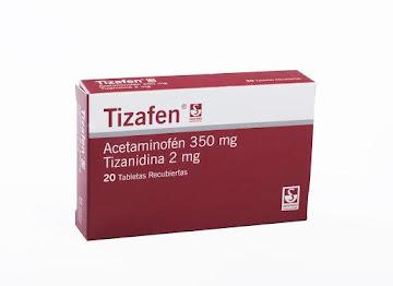 Tizafen 350/2Mg Tabletas   Caj.x20Tab. Siegfried Acetaminofén Tizanidina
