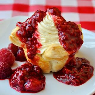 Easy Raspberry White Chocolate Tarts.
