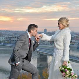 by Sasa Rajic Wedding Photography - Wedding Bride & Groom ( wedding photography, vencanje, novisad, wedding day, weddings, wedding, bride, evening, fotograf, sasarajic )