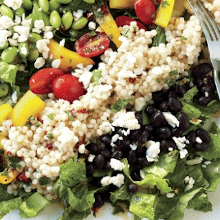 Mexican Edamame And Couscous Salad.