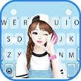 Lovely Sweet Girl Keyboard Theme