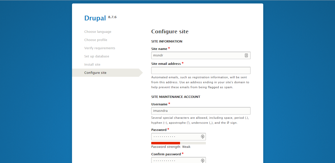 drupal vs wordpress konfigurasi