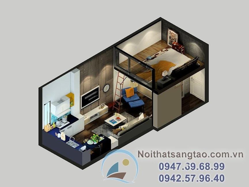 thiết kế nhà nhỏ 25m2