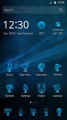 科技酷炫主題--適配於三星華為索尼HTC LG手機