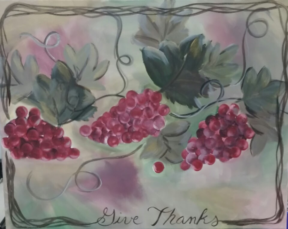 grapes thanksgiving paint nite