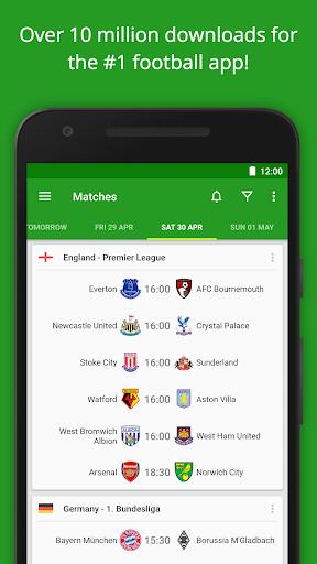 Soccer Scores  – FotMob v58.0.3405.20170607(Unlocked)